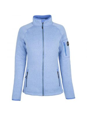 Gill Women Knit Fleece Jacket Light Blue